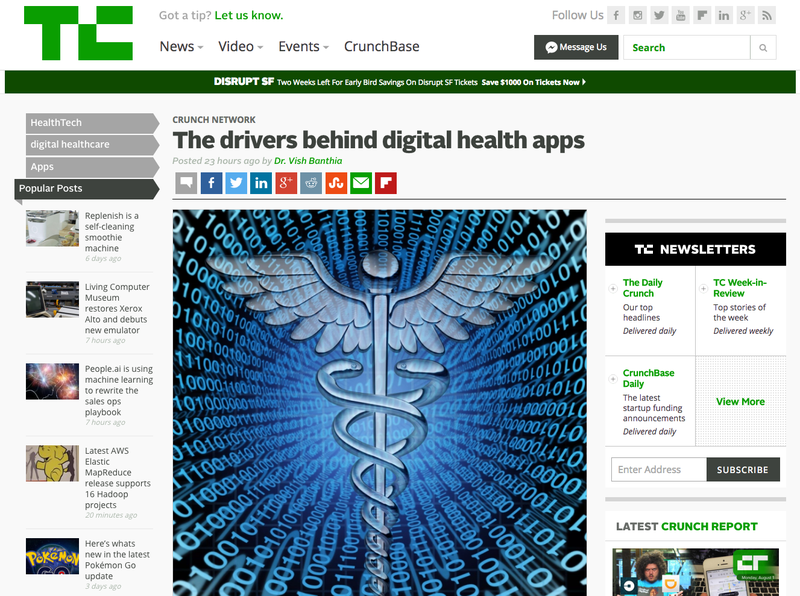 Dr. Vish TechCrunch Article