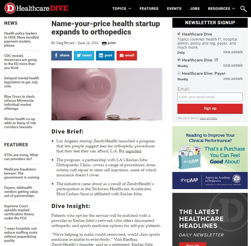 Healthcare Dive Article