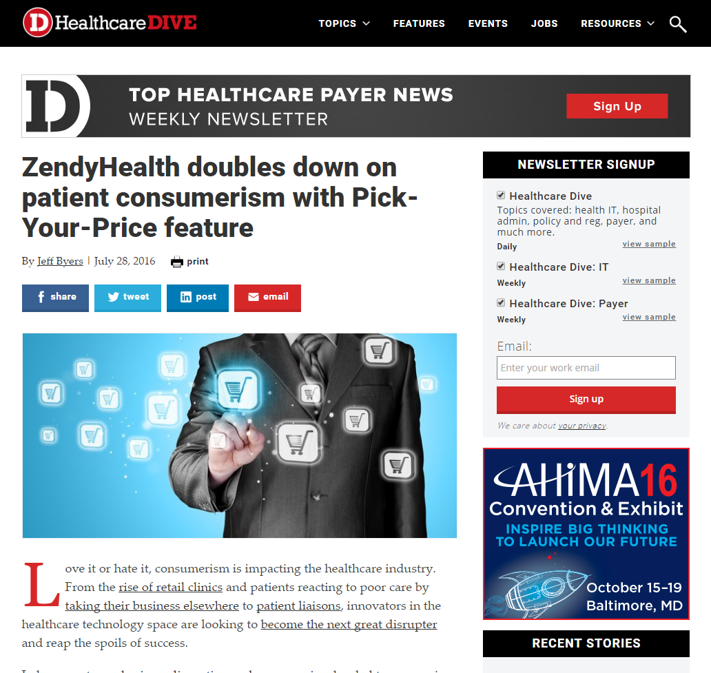 Healthcare Dive Article #2